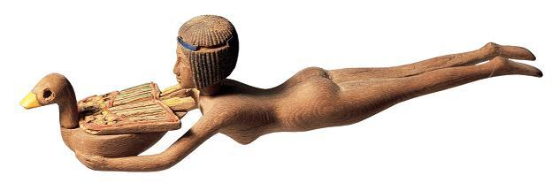 Wood figure found in an excavation