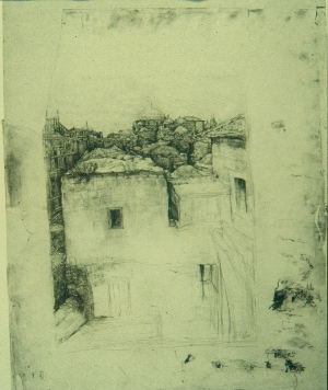 The Old City, 1927, Pencil