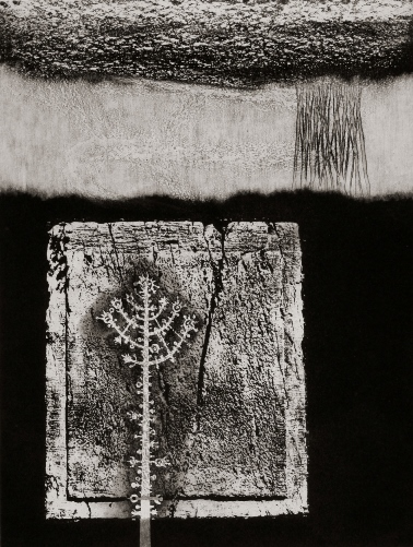 Jerusalem, City of Stone, 1976, photo-etching, aquatint, sugar lift and burnishing, 40X30
