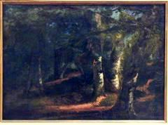 The Forest of Barbizon, oil on canvas