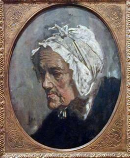 Head of an old Woman  or Woman with a White Head-dress, 1856, oil on canvas
