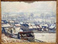 Giverny Landscape, Snow Effect, 1886, oil on canvas