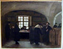 Synagogue – Interior  or Stibel in Hungary, oil on canvas