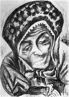 "The Mother-in-law from ""Jews of Ukraine"", 1924, lithograph"