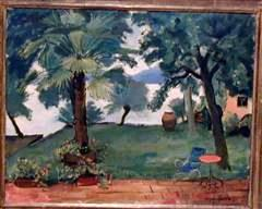 Garden Near Italian Lake, Garden Near Italian Lake, 1931, oil on canvas