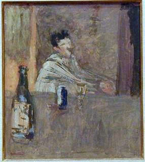 The Absinth Drinker, ca.1902, oil on cardboard mounted on canvas