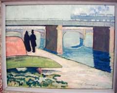 The Bridge at Asnières, 1887, oil on canvas
