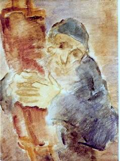 Day of Atonement Eve, 1931, watercolors